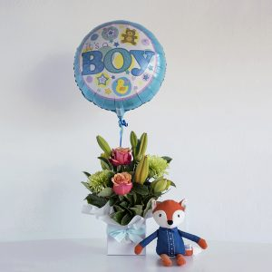 Baby gifts code bloom perth florist fresh flower bouquets its a boy negle Gallery