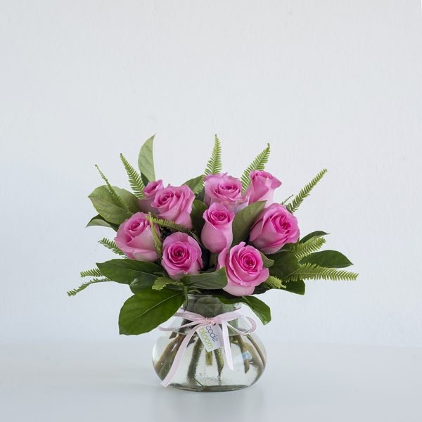 Roses in Posy Jar - Pink