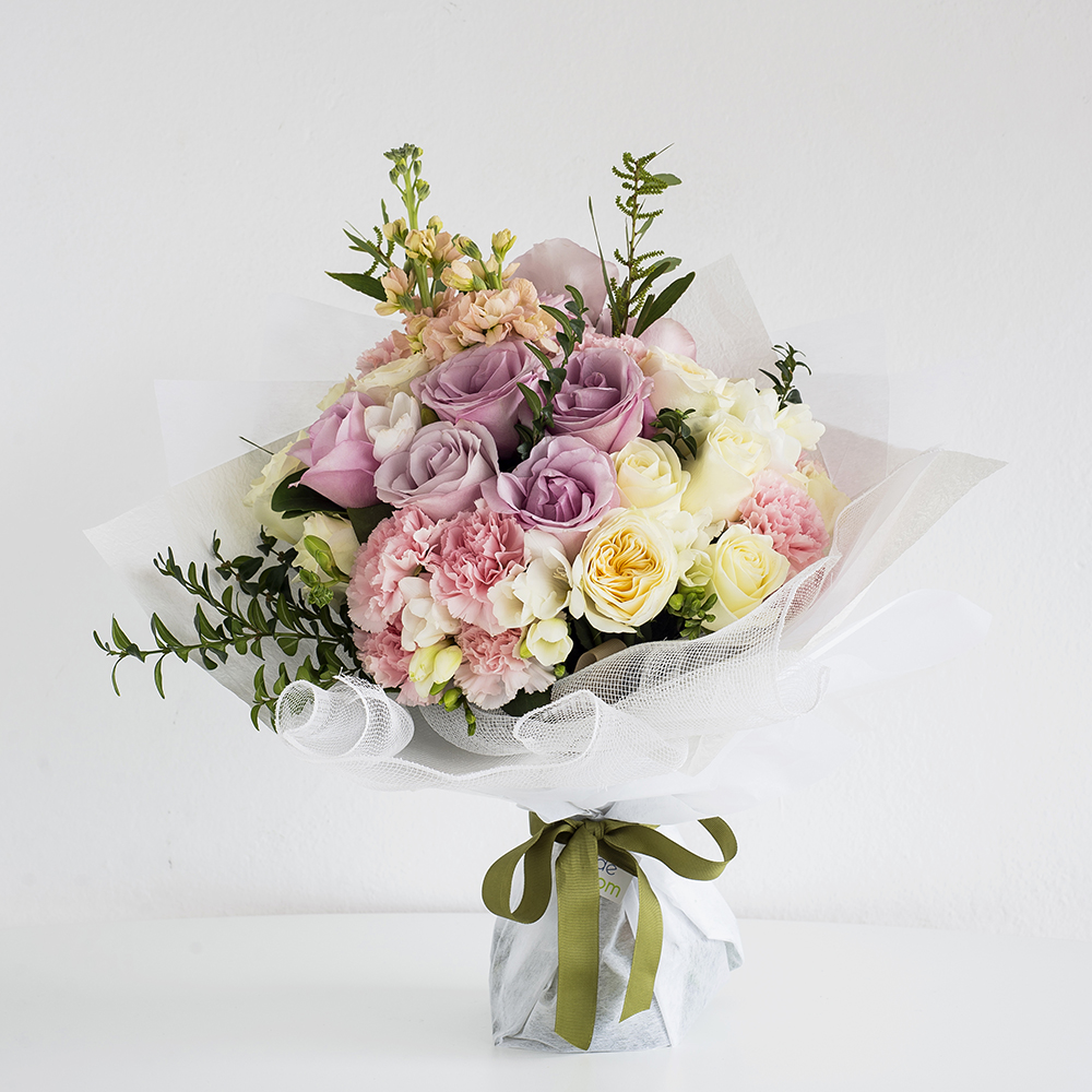 Deluxe Pastel Flowers Bouquet • Code Bloom - Perth Florist, Fresh ...