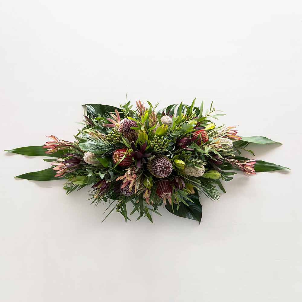 Casket spray natives code bloom perth florist fresh flower casket spray natives izmirmasajfo