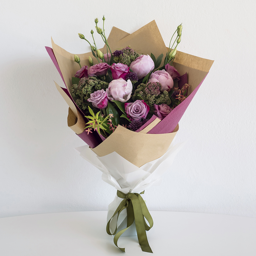 Pictures of pink flower bouquets
