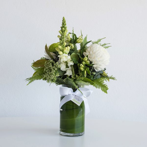 Classical Whites in a Glass Vase