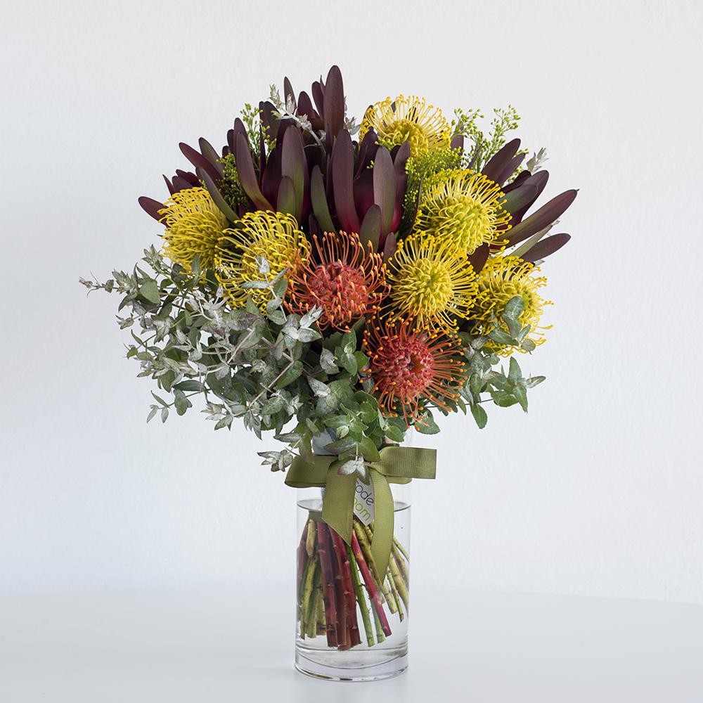 Native Flowers in Glass Vase • Code Bloom - Perth Florist, Fresh ...