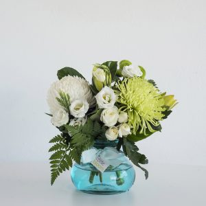 Blue Posy Jar