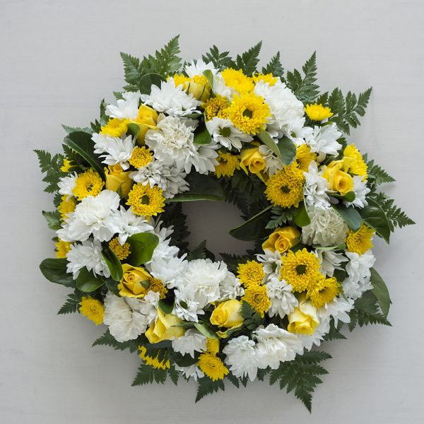 Yellow & Whites Wreath