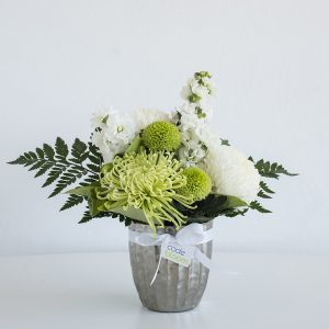 Classic Whites in Silver Vase