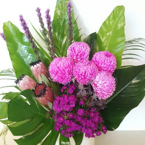 bright corporate flower arrangement