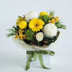 Yellow & Whites Box Arrangement