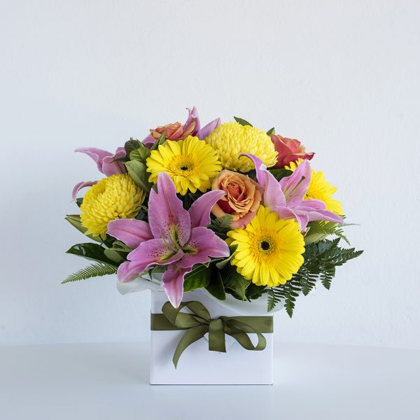 Bright and Colourful Box Arrangement