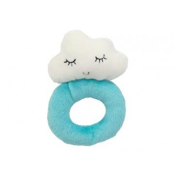 Cloud Baby Ring Rattle - Blue