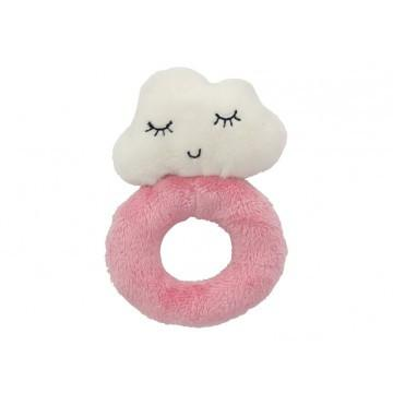 Cloud Baby Ring Rattle - Pink