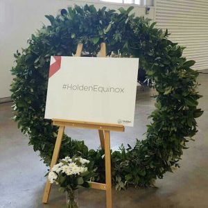 1.7m fresh greenery wreath for Holden