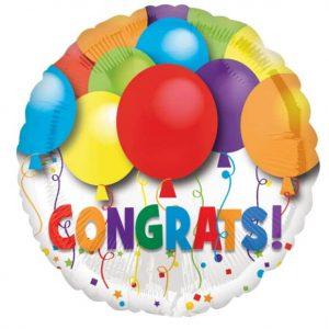 congrats helium balloon