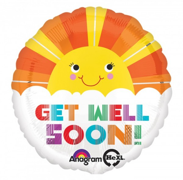 get well soon helium balloon