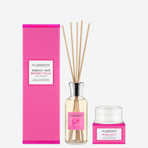 sweetest smelling glasshouse mini diffuser and candle set