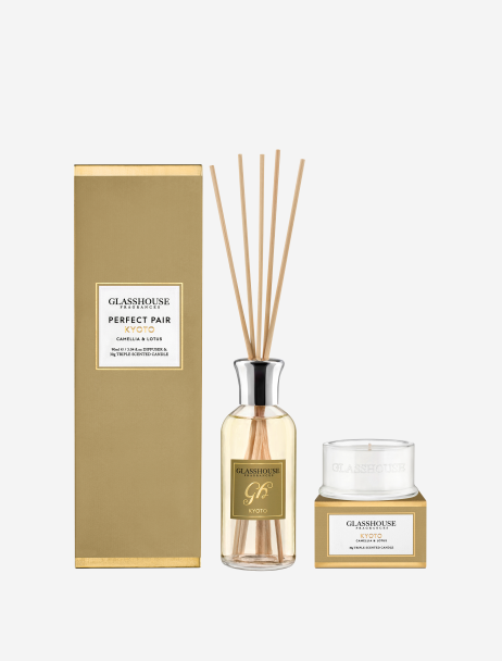 candle and diffuser gift set - kyoto fragrance