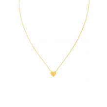 Stunning necklace designed to sit on the collarbone - gold brushed heart by Tiger Tree