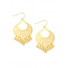Gold moroccan tinkle earrings by Tiger Tree