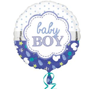 it's a boy helium balloon