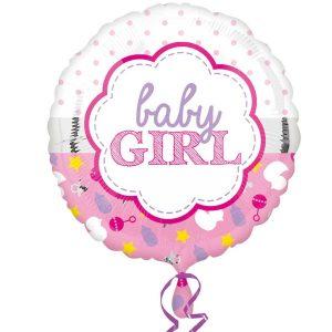 it's a girl helium balloon