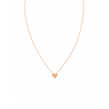 Stunning necklace designed to sit on the collarbone - rose gold brushed heart by Tiger Tree