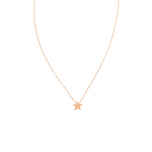 Stunning necklace designed to sit on the collarbone - rose gold brushed star by Tiger Tree