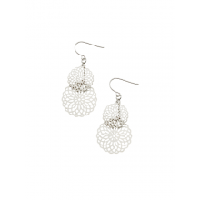 Silver Kaleidoscope earrings by Tiger Tree