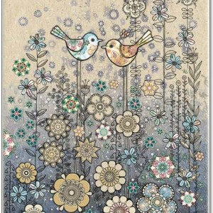 Birds meadow card