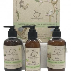 bubba organics gift set plum and marshmallow