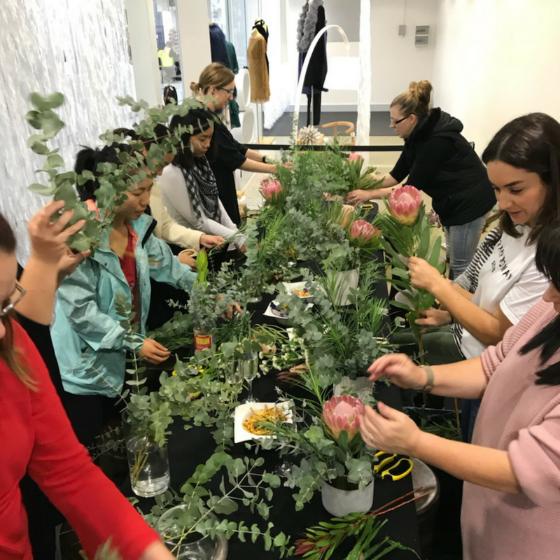 participants in native floral workshop