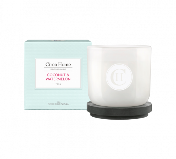 coconut watermelon candle
